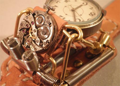 スチームパンク腕時計 ごつい時計