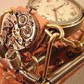 Photos: スチームパンク腕時計 ごつい時計