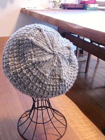 地模様帽子1