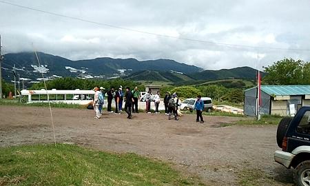 八木中学校 根子岳登山 (4)