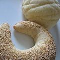 全粒粉のけしの実パンとメロンパン