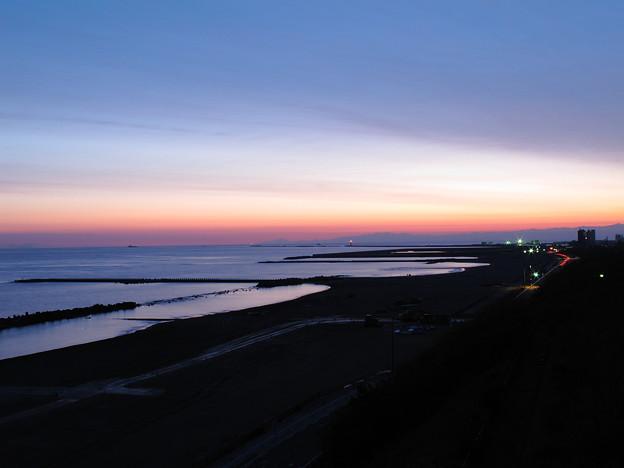 黎明の海岸