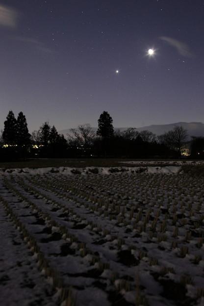 月と金星が接近した日に