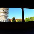 斜塔の眺め