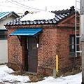 二本木駅構内のランプ小屋