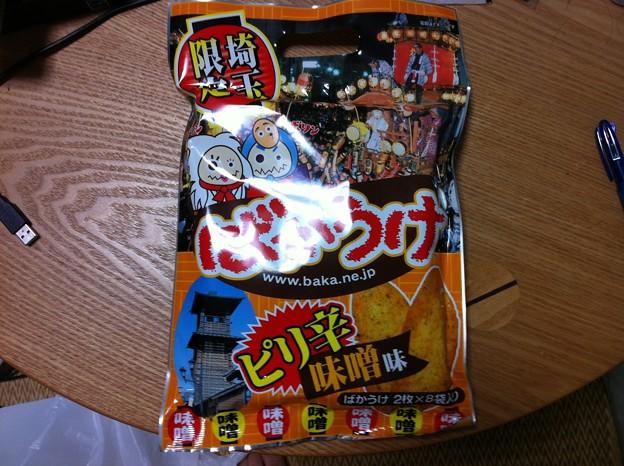 20111103 ばかうけ 埼玉ピリ辛味噌味