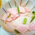 Photos: サミットで買った、カブと山芋の梅酢漬け。ストライク!作りたい!