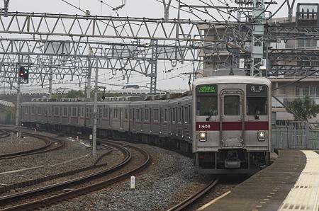鐘ヶ淵駅到着 85mm f/1.4G@f/4
