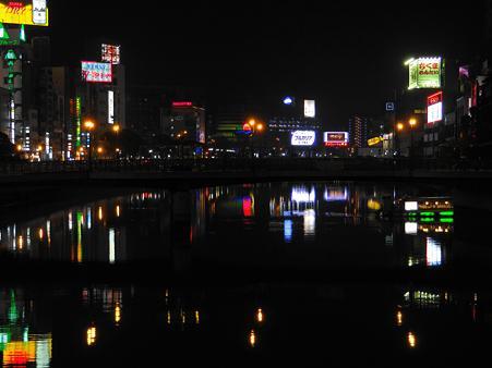 福岡中州の夜景