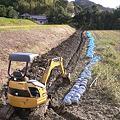 Photos: 暗渠の溝、掘り終わり