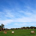 Bales of Hay and the Sky