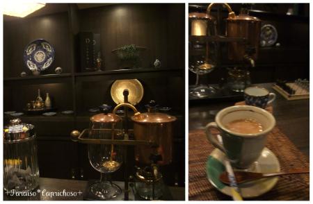 バーで朝食後のコーヒー