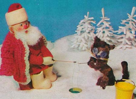 サンタさん、穴釣りをする!拡大