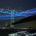 写真: 揺れる光
