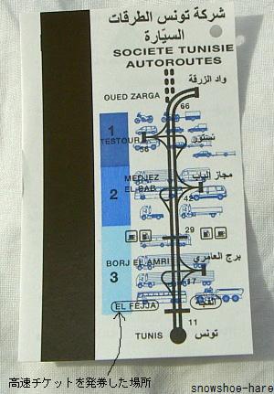 高速のチケット