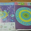 写真: 幼稚園の情報紙のオマケの切り紙工作がLa zooさんの作品だった。この人...