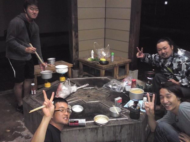 Photos: 比布のブンブンハウスにてライダーさんたちと夕食!