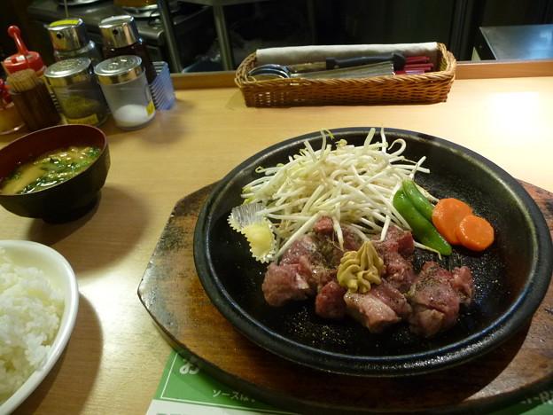 ステーキ定食(110g)