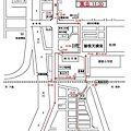 写真: 平成22年度西之町屋台運行地図14日