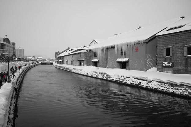 モノクロな運河。。。